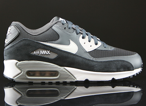 finest selection 3ddad a502a Nike Air Max 90 Essential Anthrazit Grau Schwarz Weiss Sneaker 537384-035