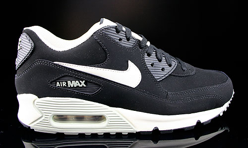 new style 598fe 5c5ac Nike Air Max 90 Essential Leather Schwarz Beige Grau Sneakers 599521-001