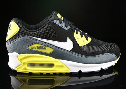 new styles 64e3e 0187b Nike Air Max 90 Essential Schwarz Dunkelgrau Gelb Weiss Sneakers 537384-017