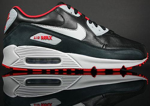 Nike Air Max 90 Premium Schwarz Grau Rot Purchaze