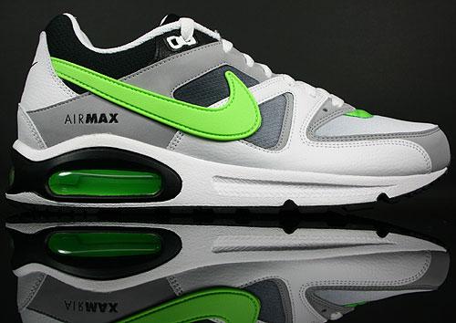 competitive price b49f9 d91a3 Nike Air Max Command Weiss Neongruen Schwarz Grau