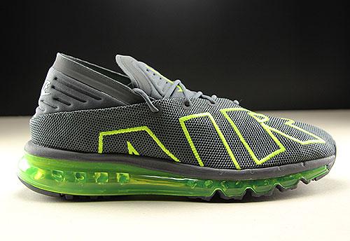 best sneakers 78b94 691f8 Nike Air Max Flair Dunkelgrau Neongruen
