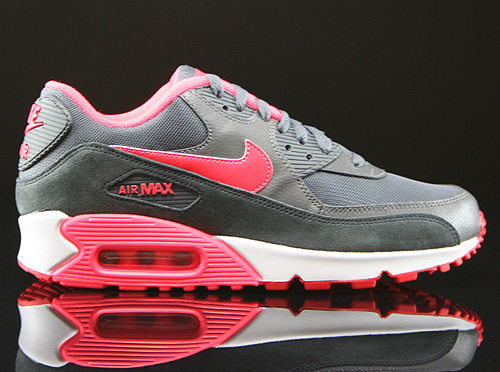 newest 63409 3613d Nike Air Max 90 Frauen Anthrazitgrau Rot Schwarz