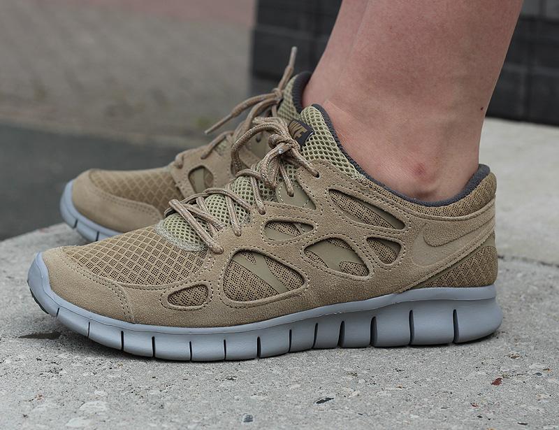 Nike Free Run 2 Hellbraun Grau Dunkelgrau - 537732-202