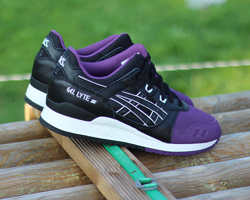 asics gel lyte 3 purple black