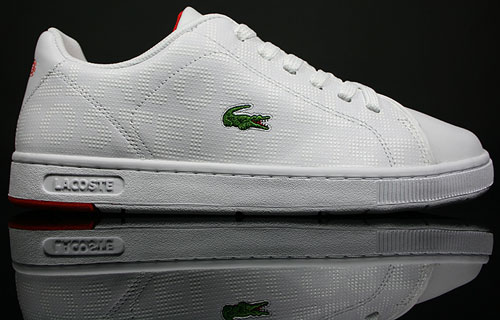 Lacoste Carnaby ET SPM Weiss Rot 7-19SPM23341P1