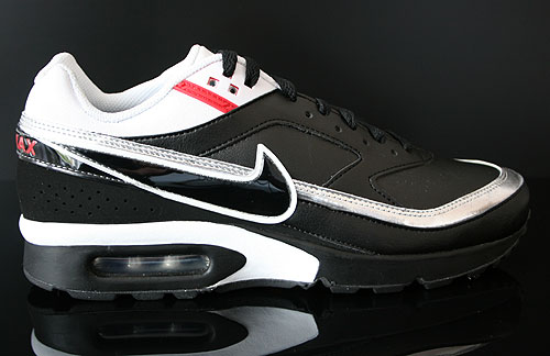 Nike Air Classic BW Schwarz Weiss Silber Rot Sneakers 309210-044