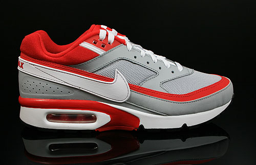 Nike Air Classic BW Textile Grau Rot Weiss Schwarz 358797-060 Turnschuhe Nike Sneakers