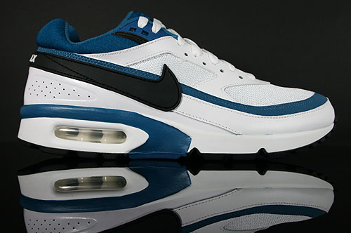 Nike Air Classic BW Textile Weiss Schwarz Blaugruen 358797-110 Sneakers Nike Schuhe
