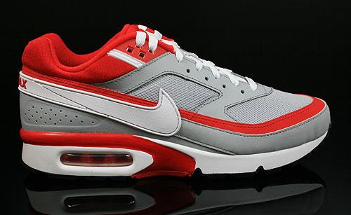 b2bca1412ab7 Nike Air Classic BW Textile Wolf Grey Sport Red White 358797-060