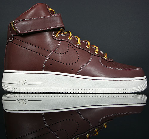 Nike Air Force 1 High Premium LE Braun/Weiss 386161-600