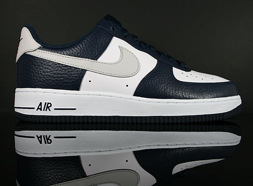 Nike Air Force 1 Low Dunkelblau Hellgrau Weiss Sneakers 315122-417