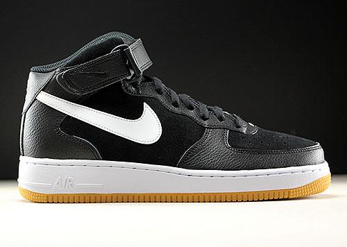Nike Air Force 1 Mid Schwarz Weiß Hellbraun Purchaze
