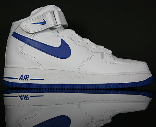 timeless design c3bde c3417 Nike Air Force 1 Mid Weiss Blau