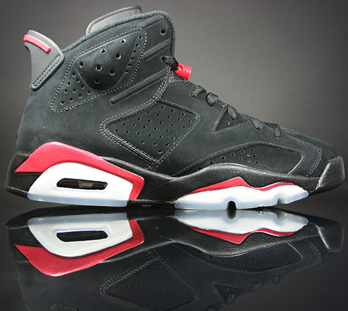 Nike Air Jordan 6 VI Retro Schwarz/Rot-Weiss 384664-061