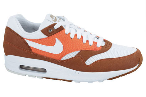 Nike Air Max 1 Braun Weiss Orange Khaki 308866-204 Sneakers Nike Schuhe