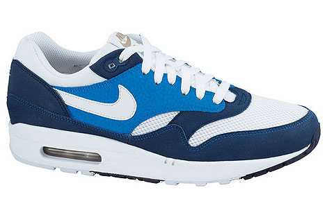 Nike Air Max 1 Dunkelblau Blau Weiss Khaki 308866-407 Sneakers Nike Schuhe