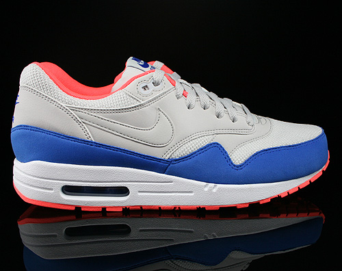 Nike Air Max 1 Essential Hellgrau Blau Orange Weiss Sneaker 537383-004