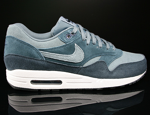 Nike Air Max 1 Leather Dunkelblau Blaugrau Graublau Weiss