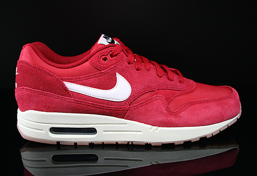 Nike Air Max 1 Essential Rot Weiss Schwarz Sneaker 537383-611