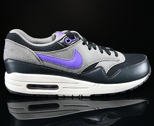 the best attitude b1509 d2830 Nike Air Max 1 Essential Schwarz Dunkelgrau Grau Lila Beige Sneaker  537383-005