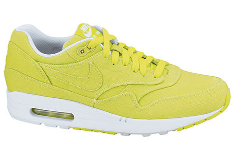 Nike Air Max 1 Neongelb Weiss Grau 308866-302 Sneakers Nike Schuhe