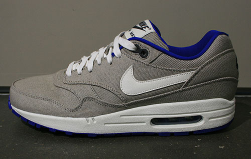 Nike Air Max 1 Premium Grau Weiss Blau Schwarz Sneakers 512033-040