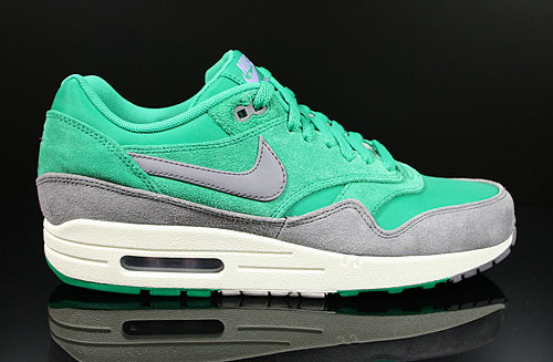 Nike Air Max 1 Premium Gruen Grau Creme 512033-306 Turnschuhe Sneakers AirMax