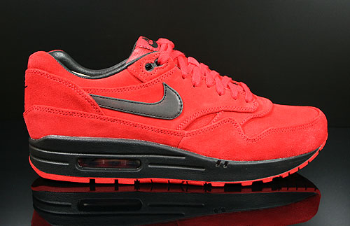 Nike Air Max 1 PRM Rot Schwarz 512033-610  AirMax Sneaker Turnschuhe