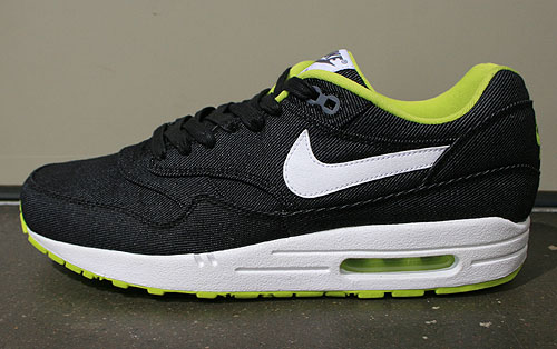 Nike Air Max 1 Premium Schwarz Weiss Limette Grau Sneakers 512033-019