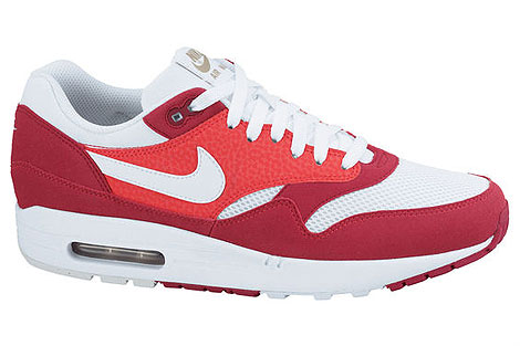 Nike Air Max 1 Rot Weiss Khaki Dunkelbraun 308866-602 Sneakers Nike Schuhe