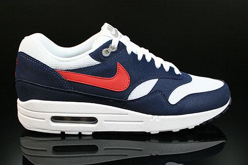 purchase cheap 9111d 5a430 Nike Air Max 1 White Gym Red Thunder Blue Medium Grey 308866-110