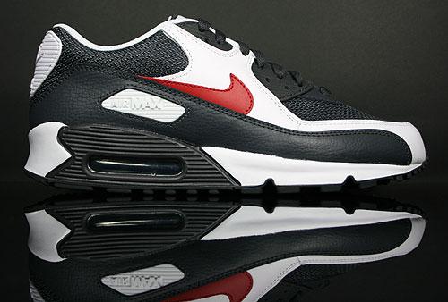 Nike Air Max 90 Dunkelgrau Schwarz Weiss Rot Purchaze