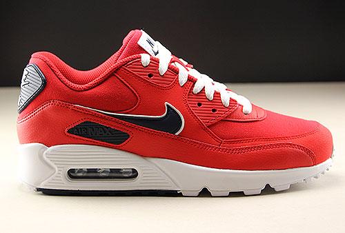 Nike Air Max 90 Essential Rot Weiss Dunkelblau Purchaze