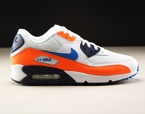 Nike Air Max 90 Essential Weiss Blau Orange AJ1285-104