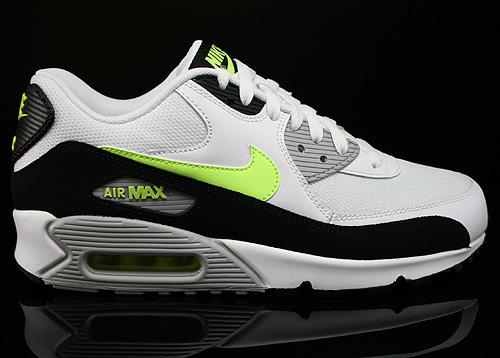 low priced 7694f 48524 Nike Air Max 90 Essential Weiss Neongelb Schwarz Grau Sneaker 537384-118