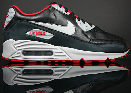 nike air max 90 premium schwarz grau rot purchaze. Black Bedroom Furniture Sets. Home Design Ideas