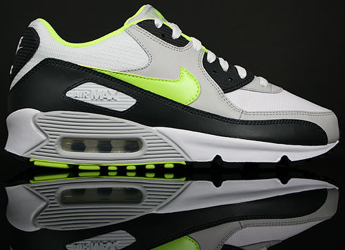 buy popular a20fb a606e Nike Air Max 90 Weiss Neongelb Grau Anthrazit 309299-120