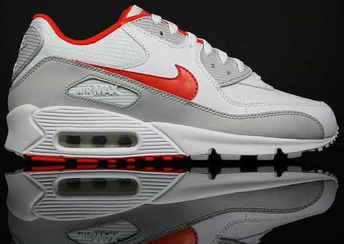 Nike Air Max 90 Weiss/Orange-Grau 309299-121