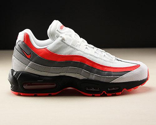 newest 86089 461e5 Nike Air Max 95 Essential Weiss Rot Schwarz Grau 749766-112