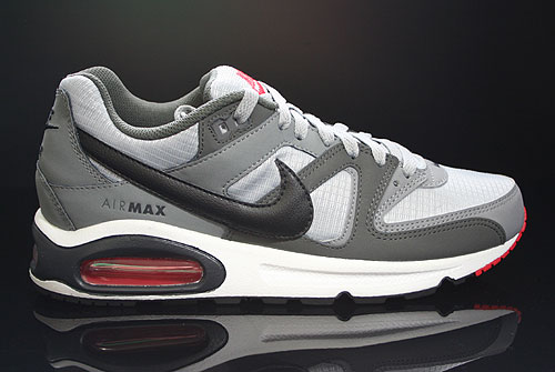 nike air max command dunkelgrau schwarz grau rot weiss. Black Bedroom Furniture Sets. Home Design Ideas