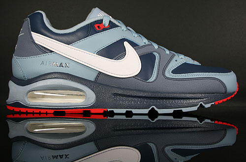 Nike Air Max Command Leather Dunkelblau Graublau Weiss Rot Sneakers 409998-400