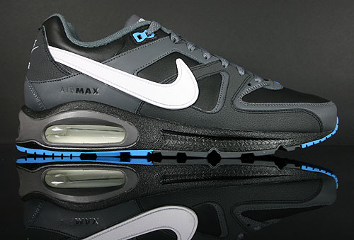 Nike Air Max Command Leather Schwarz Weiss Anthrazit Blau Sneakers 409998-010