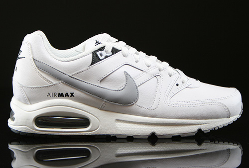 Nike Air Max Command Leather Weiss Grau Anthrazit Sneaker 409998-120
