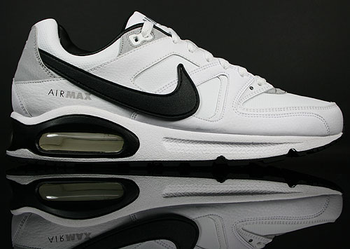 Nike Air Max Command Leather Weiss/Schwarz-Grau 409998-100