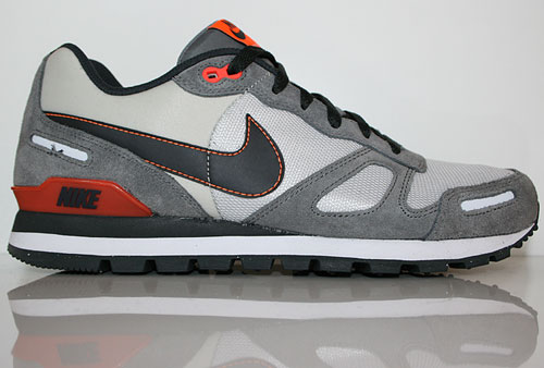 Nike Air Waffle Trainer Grau Anthrazit Rot Orange Sneaker 429628-090