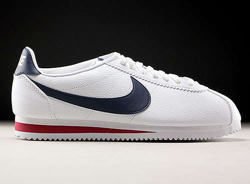 Nike Classic Cortez Leather Weiss Dunkelblau Rot 749571-146