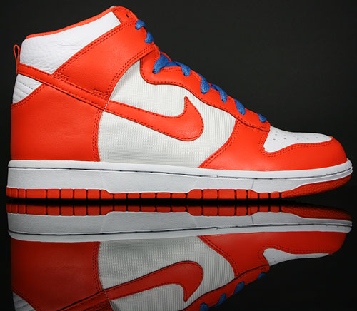 Nike Dunk Hi Weiss Orange Blau 317982-181