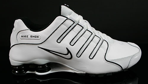 Nike Shox NZ EU Weiss Weiss Schwarz 325201-124 Sneakers Nike Schuhe
