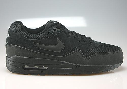 Nike Air Max 1 Schwarz Wildleder